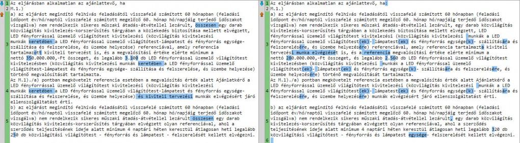 Forrás: Közbeszerzési Értesítő - Direkt36 saját gyűjtés - Text Compare