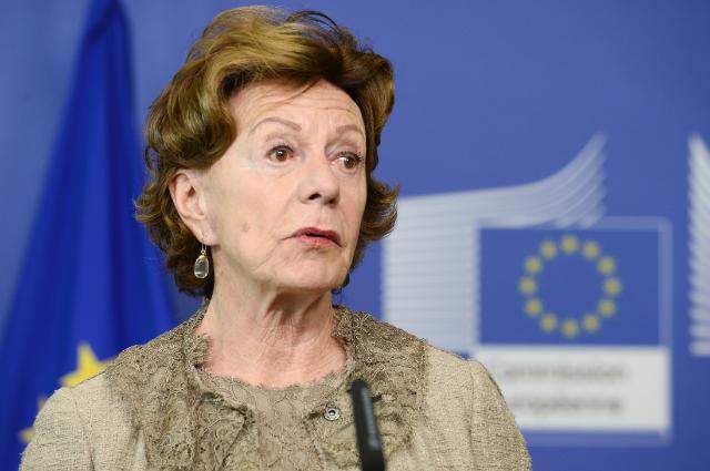 Neelie Kroes korábbi uniós biztos (forrás: EU)